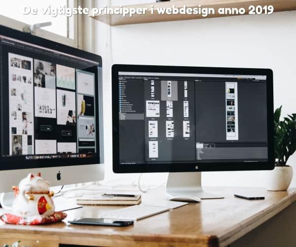 De vigtigste principper i webdesign anno 2019